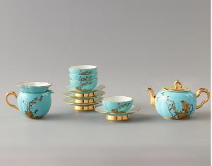 国瓷永丰源 夫人瓷12头茶具中国风杯子家用套装茶具陶瓷杯