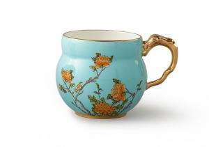 国瓷永丰源夫人瓷 360ml马克杯 办公杯家用喝茶水杯中国风陶瓷杯