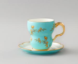 国瓷永丰源 夫人瓷新中式280ml碟茶杯情侣陶瓷杯