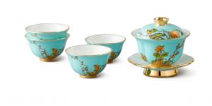 国瓷永丰源夫人瓷 7头茶具杯子中国风陶瓷杯简约套装茶具